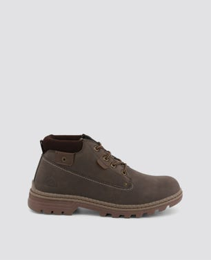 Brown Chukka Chunky Ankle Boots