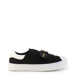 Nero Elastic Gores Slip On Sneakers
