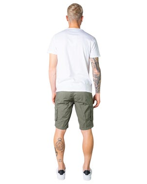 Button Zip Cargo Side Pocket Short
