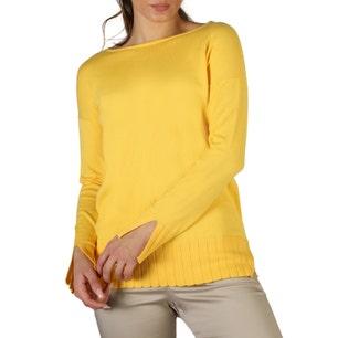 Yellow Long Sleeve Ribbed Cuff Sweater