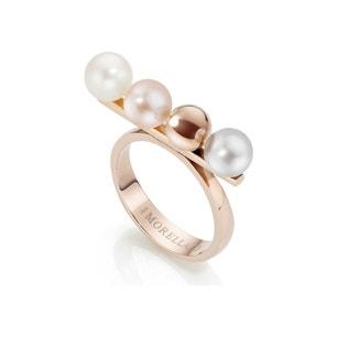 Rose Gold Tone Studs Ring
