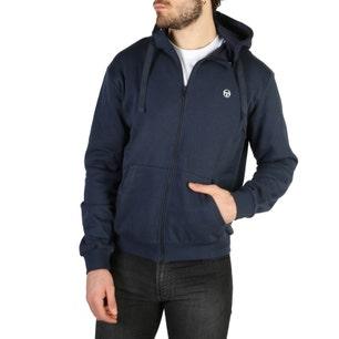 Blue Hoodie Long Sleeve Zip Sweatshirt