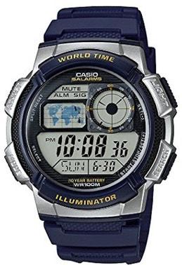 Navy Blue Illuminator Rubber Strap Watch