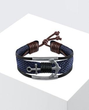 Blue Rude Anchor Bracelet