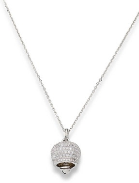 Silver Bell Embellish Pendant Necklace