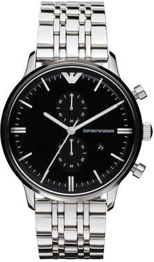 Classic Black Dial Quartz Stainless Steel Watch