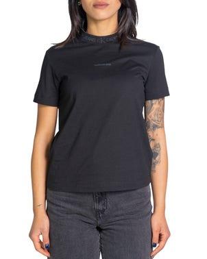 High Neckline Short Sleeve T-shirt
