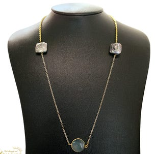 Kayla Two Tone Pearl Necklace