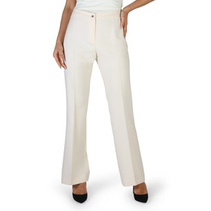 White Button Classic Flared Trousers