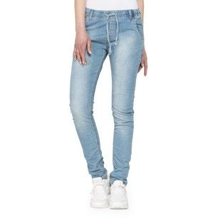 Denim Elastic Waistband Jeans