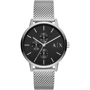 Analog Stainless Steel Black Dial Watch
