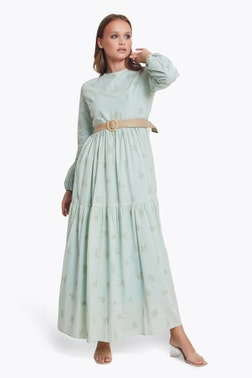 Embroided Effect Maxi Dress