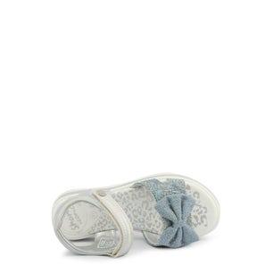 Metallic Velcro Floral Strap Kids Sandals