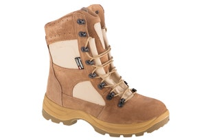 Brown Cross Lace Trekking Shoes
