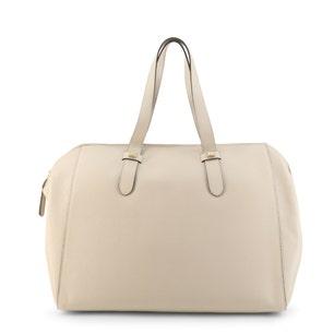 Plain Leather Zipper Shoulder Bag