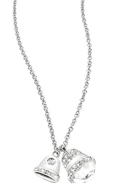 Stainless Steel Silver Tone Bell Pendants Necklace