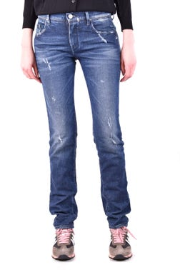 Denim Ripped Wash Straight Jeans