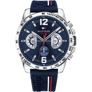 Blue Dial Chronograph Silicone Watch