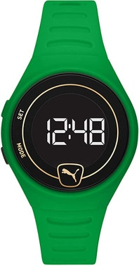 Forever Faster Lcd Green Polyurethane Watch