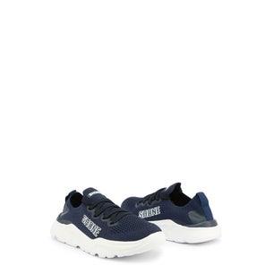 Navy Almond Toe Elastic Kids Sneakers