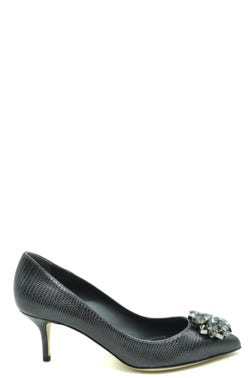Pointed Toe Snake Print Pumps