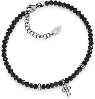 Croce Pietre Dure Black Bracelet