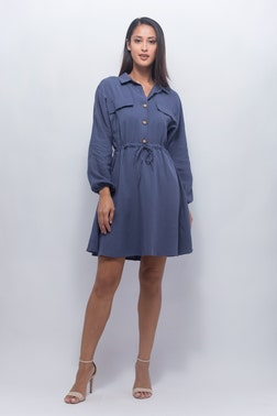 Casual Front Tie Dress