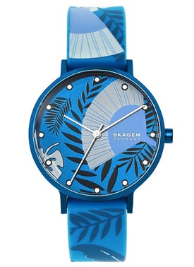 Silicone Strap Printed Dial Analog Watch