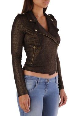 Collar Button Zip Sweatshirt