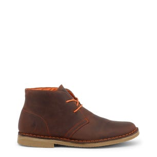 Brown Leather Ohio Mid Top Shoes