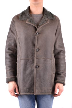 Tri Buttons Genuine Leather Jacket