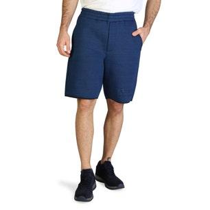 Elastic Waist Pocket Side Casual Short