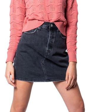 Denim Button Wash Skirt
