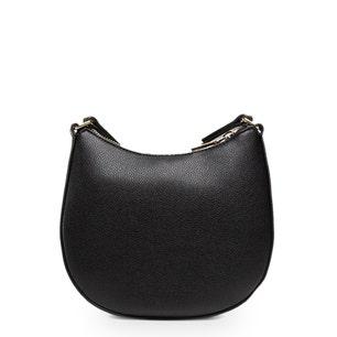 Black Zipper Logo Crossbody Bag