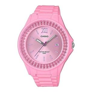 Pink Embellish Bezel Resin Strap Watch