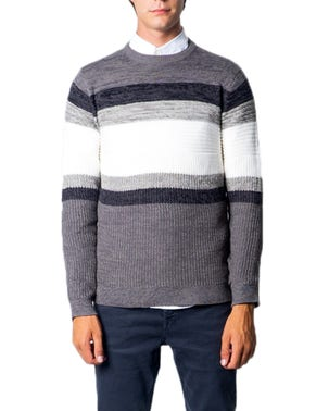 Block Lining Long Sleeve Knitwear