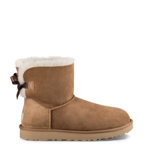 Brown Suede Fur Ankle Boots