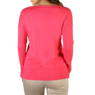 Pink Long Sleeve Ribbed Cuff Sweater