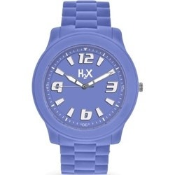 Purple Silicone Strap Analog Quartz Watch