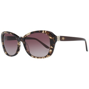 Brown Oversized Butterfly Frame Sunglasses