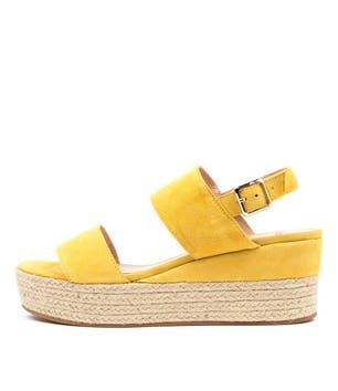 Yellow Myron-Mo Wedges Sandals