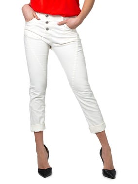 Three Button Pocket Cropped Trouser