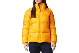 Yellow Puffect Mid Hooded Long Sleeve Jacket