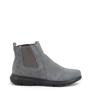 Grey Elastic Suede Rizzil Ankle Boots