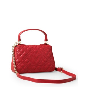 Red Magnetic Quilted Handbag
