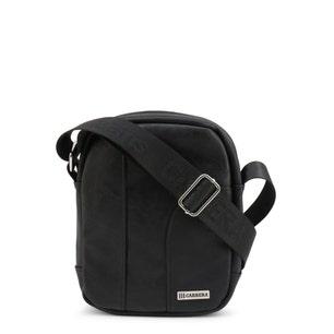 Black Hold Round Zipper Crossbody Bag