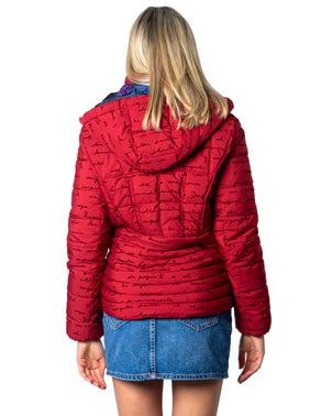 Red High Neck Zip Up Jacket