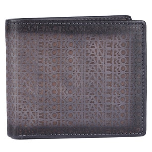 Grey Leather Card Slots Wallet