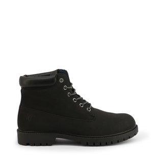 Black Nubuck Clstar Lace Up Ankle Boots