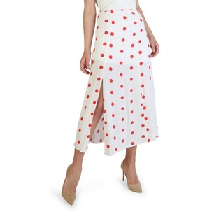 Polka Dots Print Side Zipper Skirt
